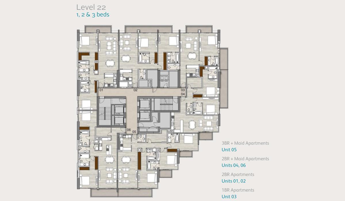 Level22-1-2-3-bedroom