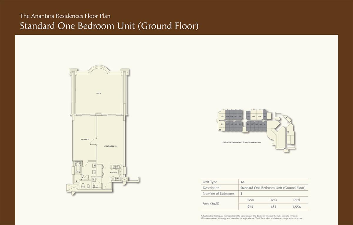 Ground Floor-1bd- Size 1556-sqft