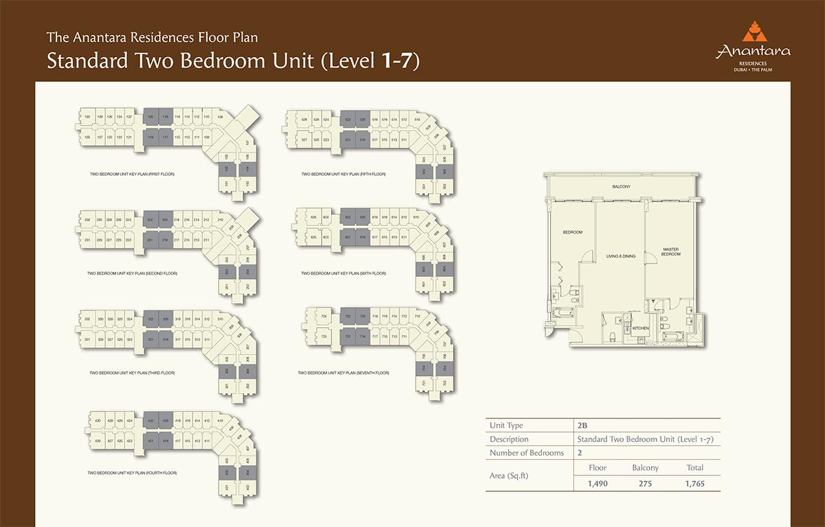 Level1-7-2bd- Size 1765-sqft