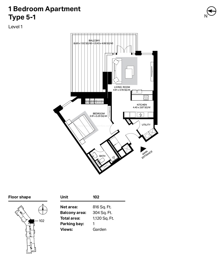Marina Blue Floor Plans: Meraas Bluewaters Residences Building 4