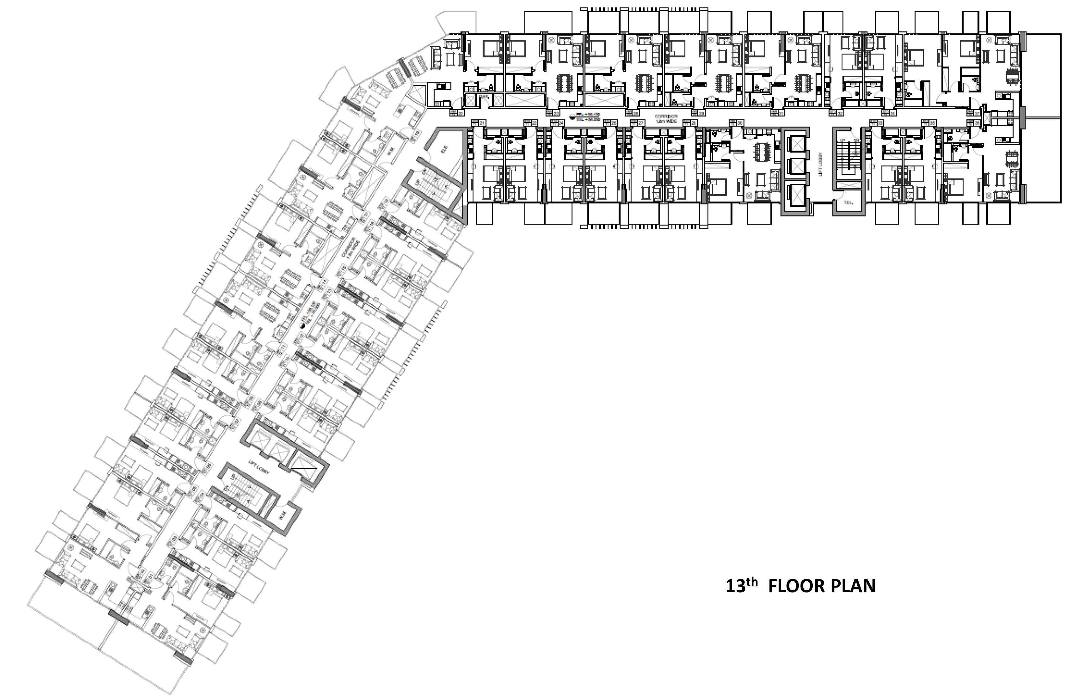 Farhad azizi residence health care city floor plan for 13th floor design