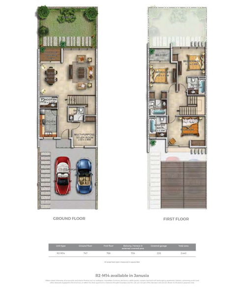R2-M4, Size 2443 sq ft