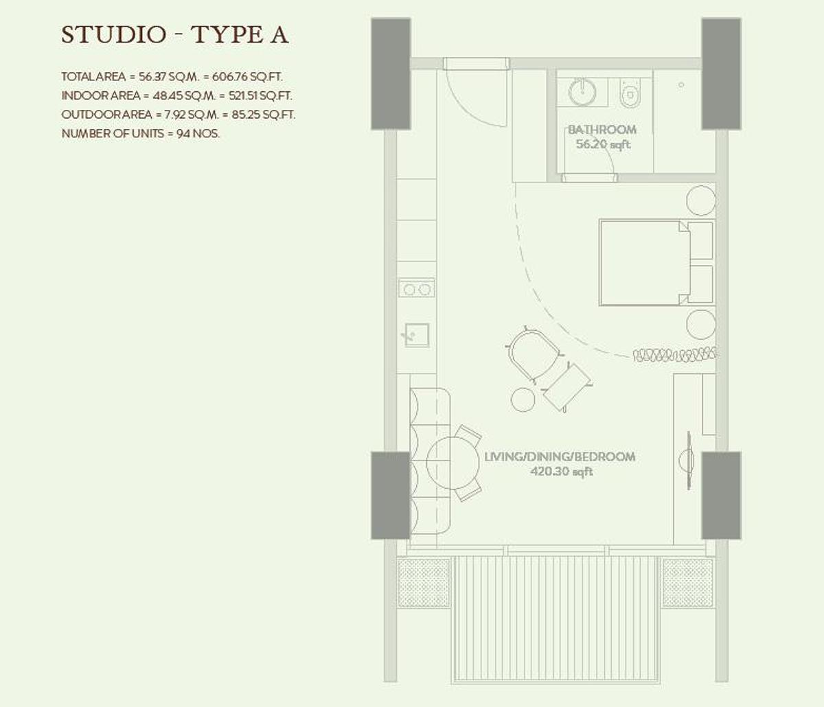 Zaya Hameni Apartments At Jvc Dubai Floor Plan