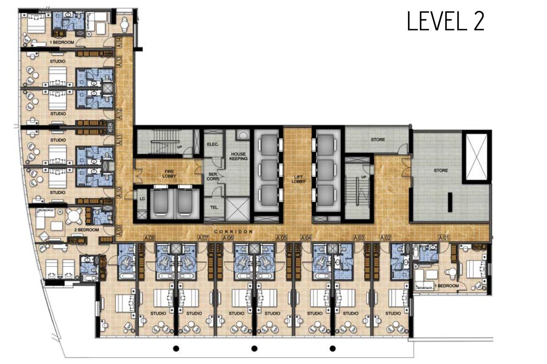 Damac Radisson Hotel Floor Plans And Sizes At Damac Hills