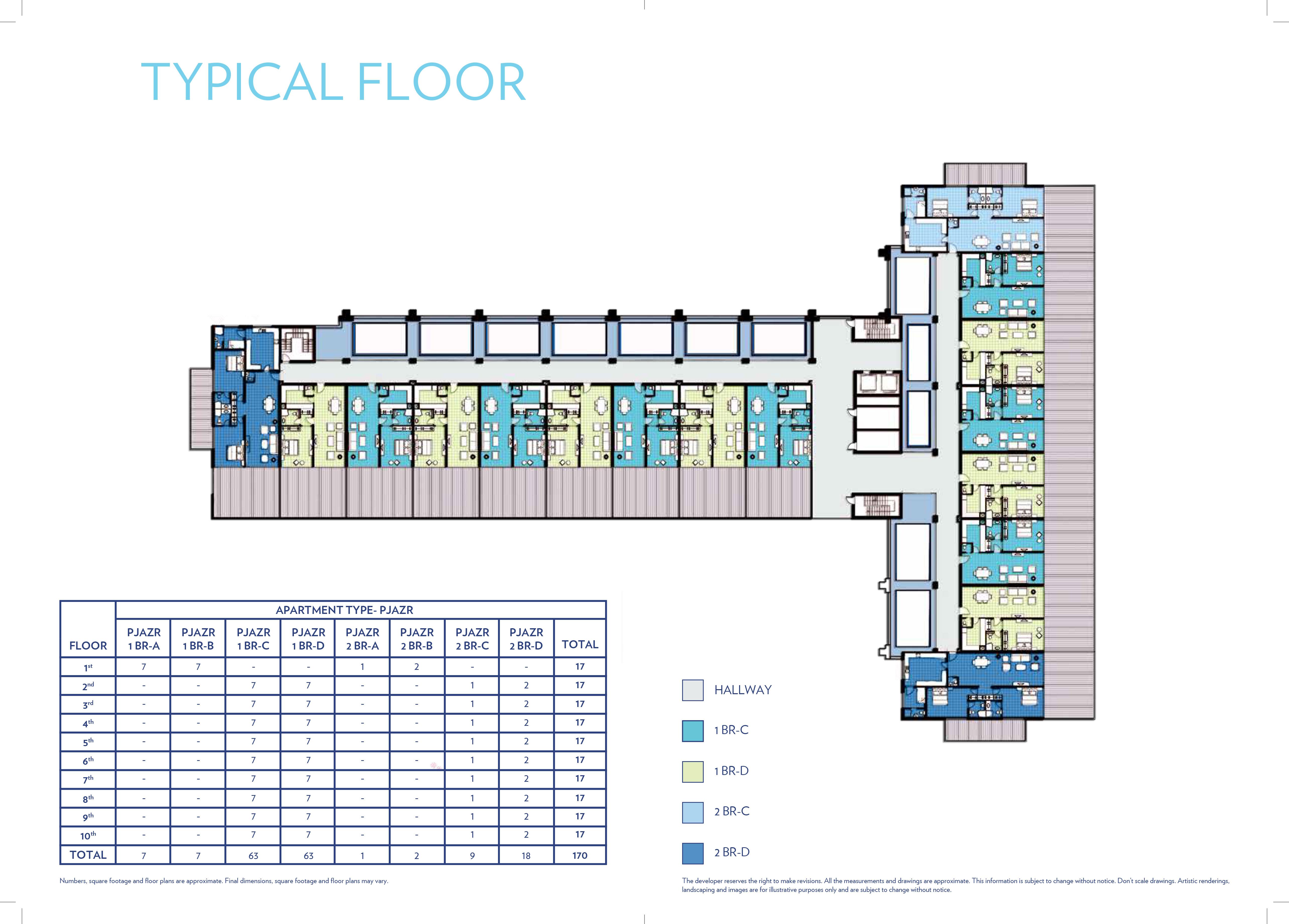 Nakheel Azure Residences At Palm Jumeirah Floor Plan