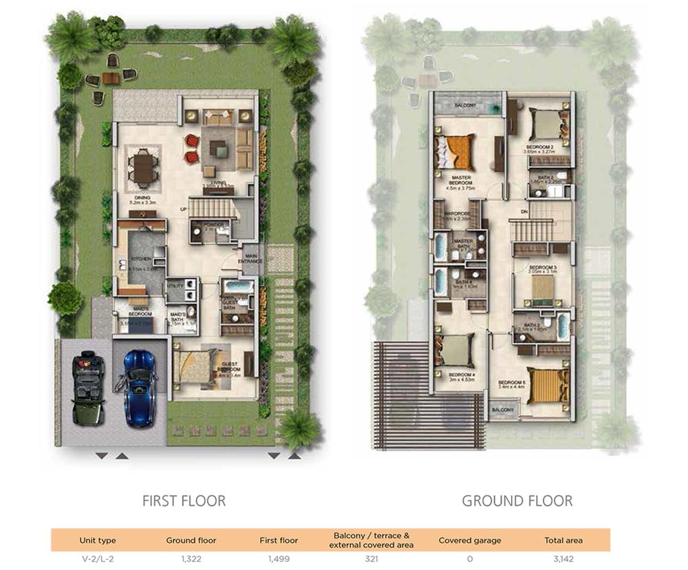 4 Bedroom Unit Type V2-Level 2 Size 3142 sqft
