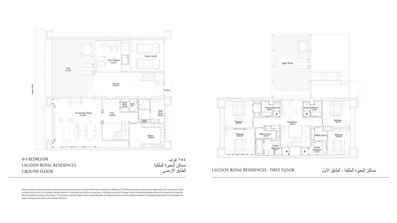 4+1 Bedroom Lagoon Royale Residences