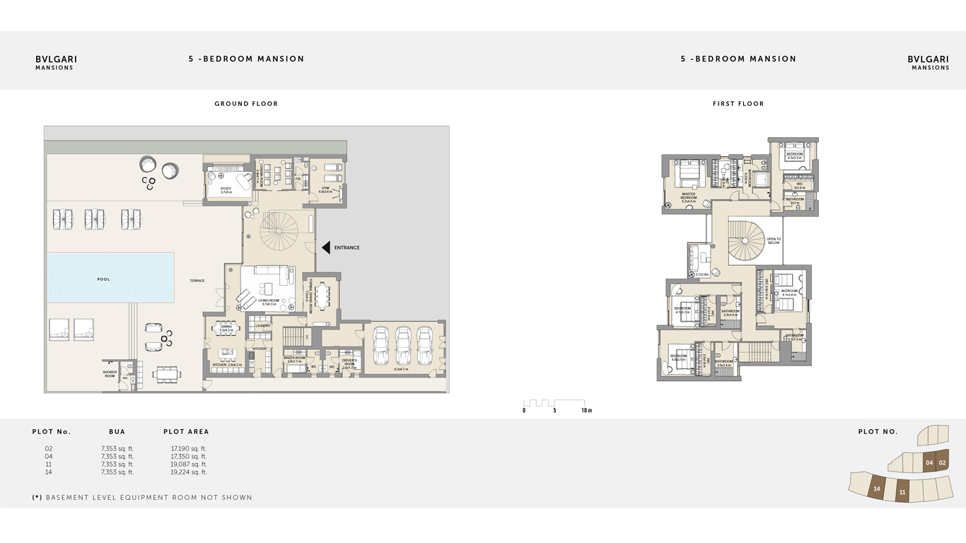 5 Bedroom Mansion Ground Floor , Size 19,224 Sq Ft