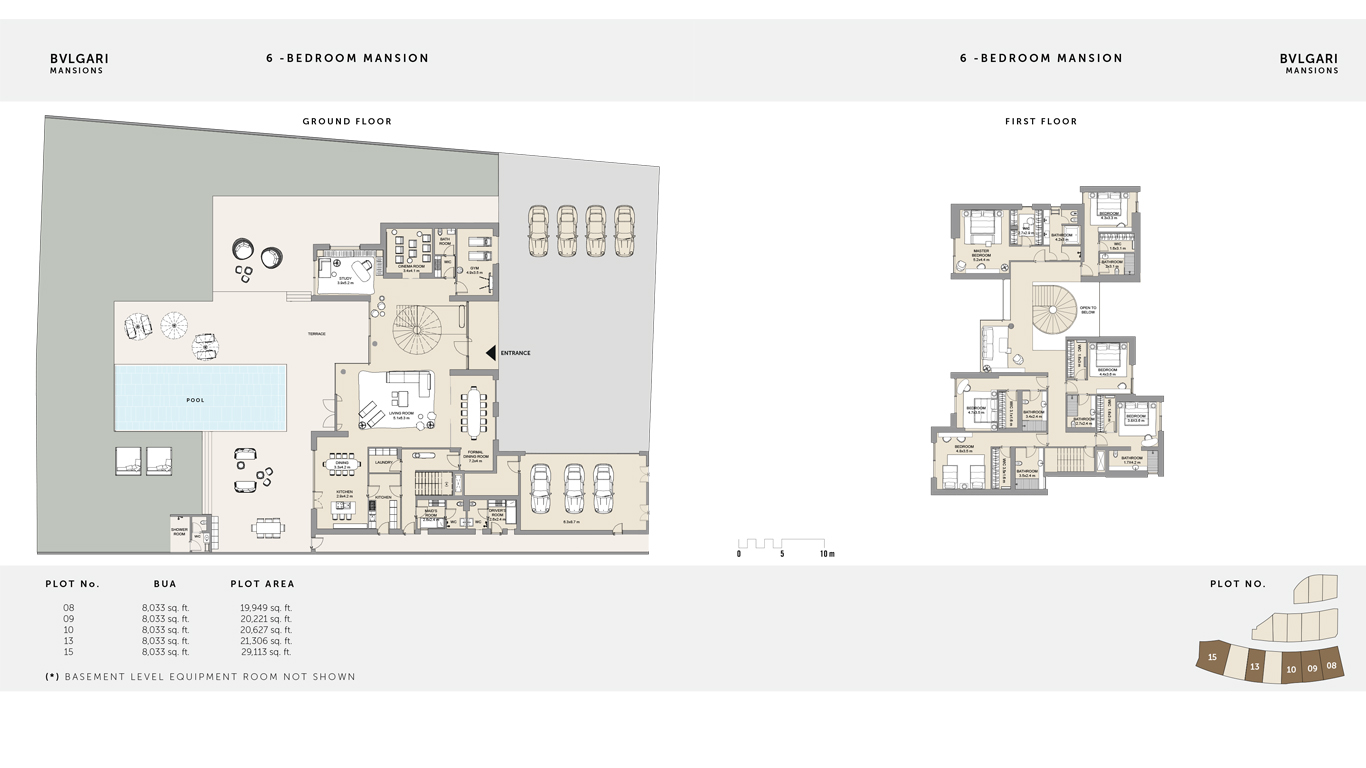6 Bedroom Mansion Ground Floor , Size 29,113 Sq Ft
