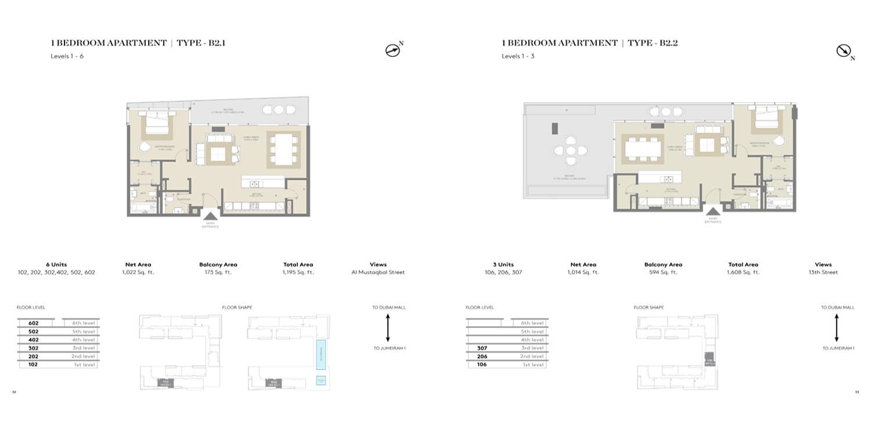 Meraas City Walk Building 16 Floor Plans