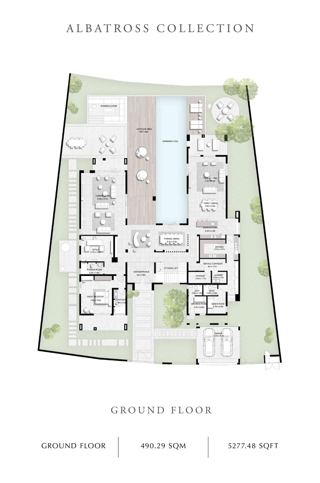 Albatross-Collection-Ground Floor- Size 5277 Sq Ft