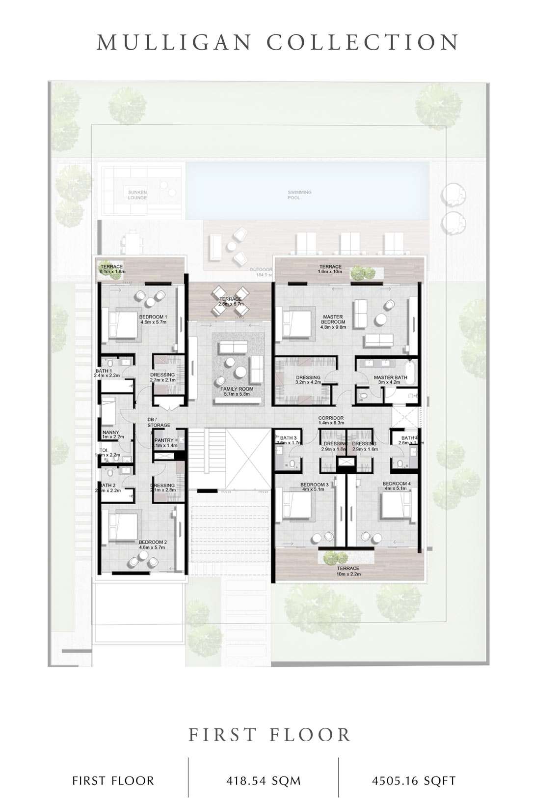 Mulligan-Collection-First Floor, Size 4505 Sq Ft