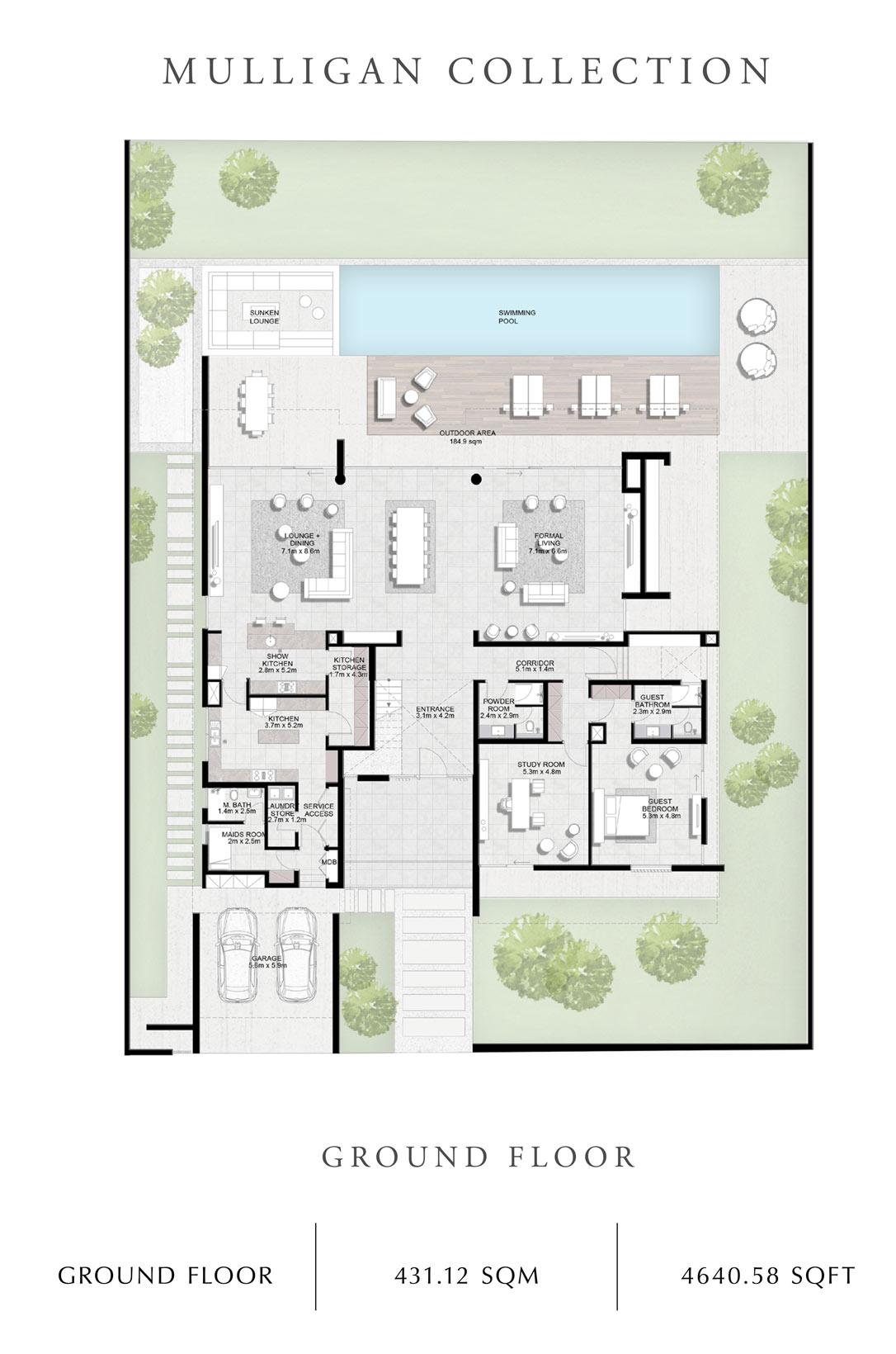 Mulligan-Collection-Ground Floor, Size 4640 Sq Ft