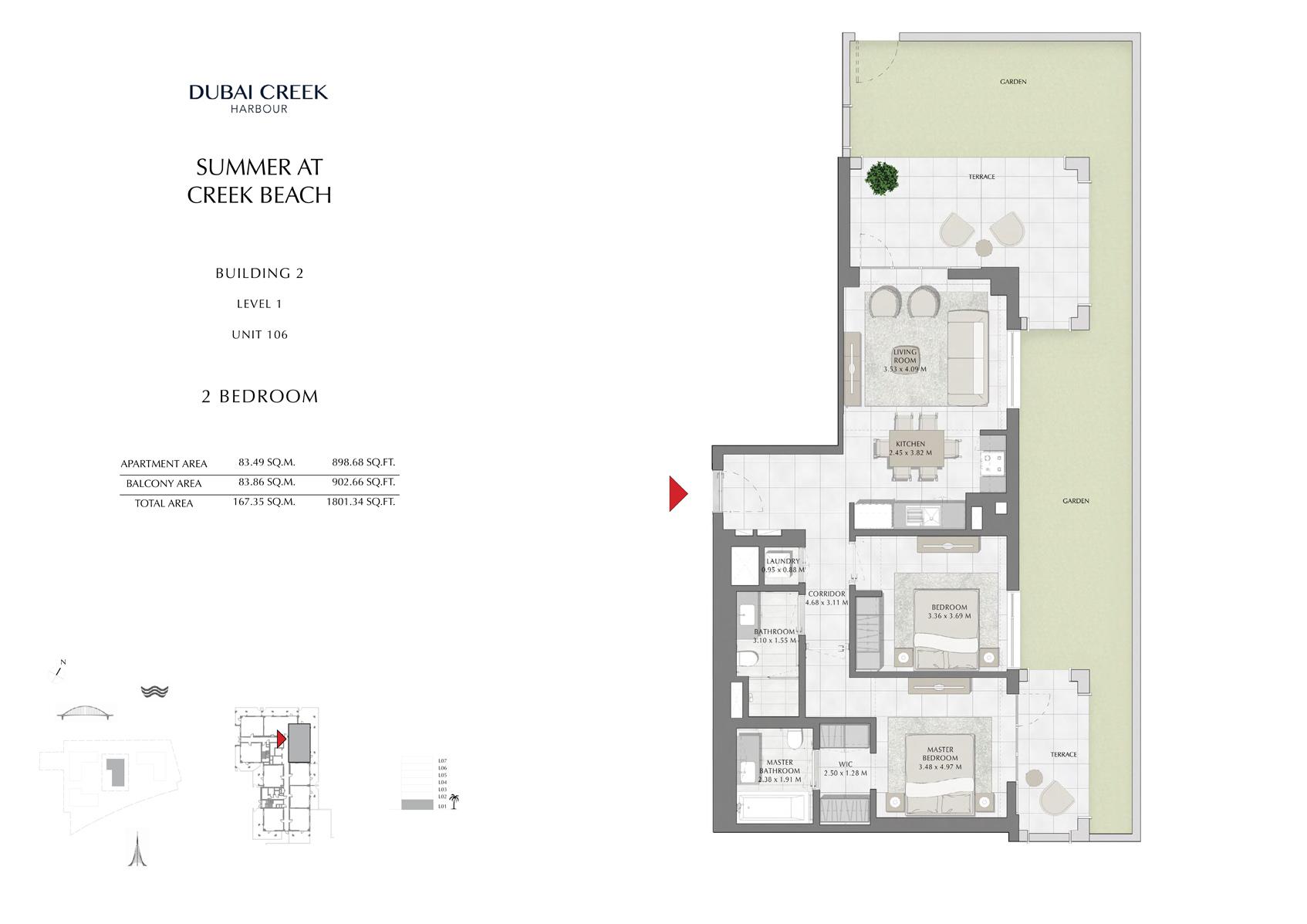 2 Br Building 2 Level 1 Unit 106, Size 1801 Sq Ft
