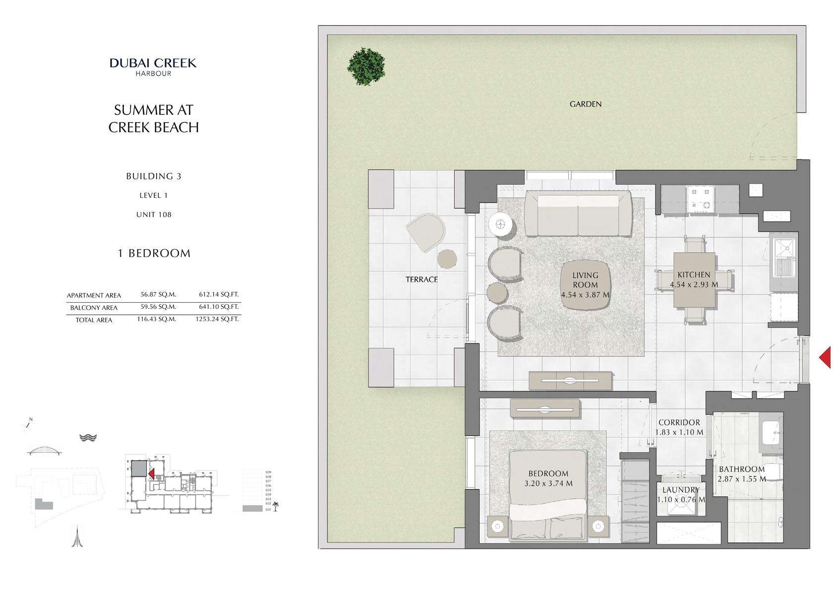 1 Br Building 3 Level 1 Unit 108, Size 1253 Sq Ft