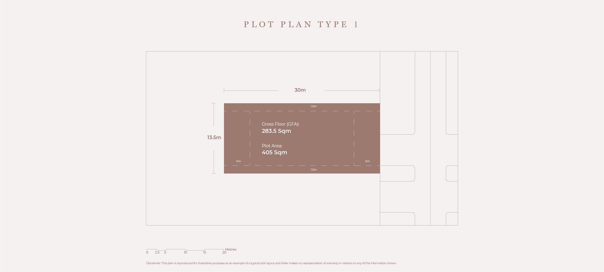 Plots Plan Type 1, Size 405 Sqm
