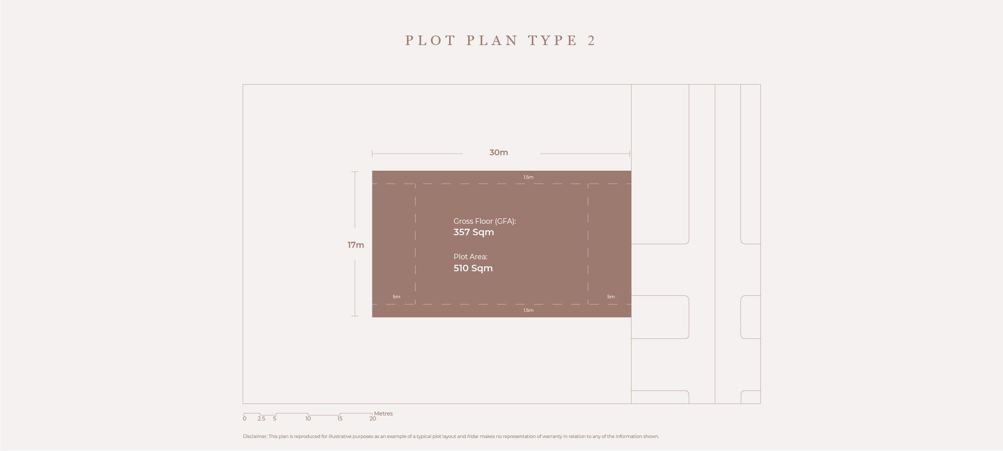 Plots Plan Type 2, Size 510 Sqm