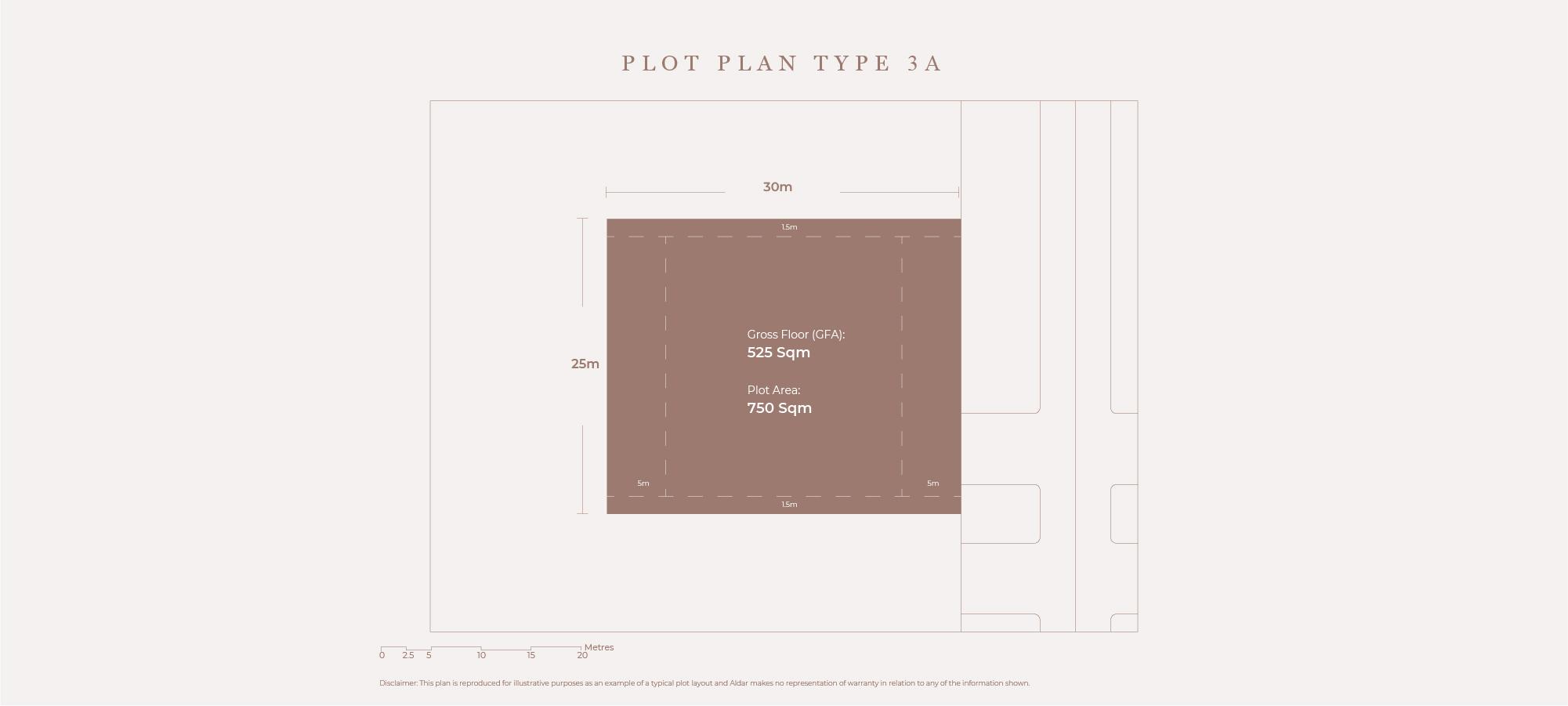Plots Plan Type 3A, Size 750 Sqm