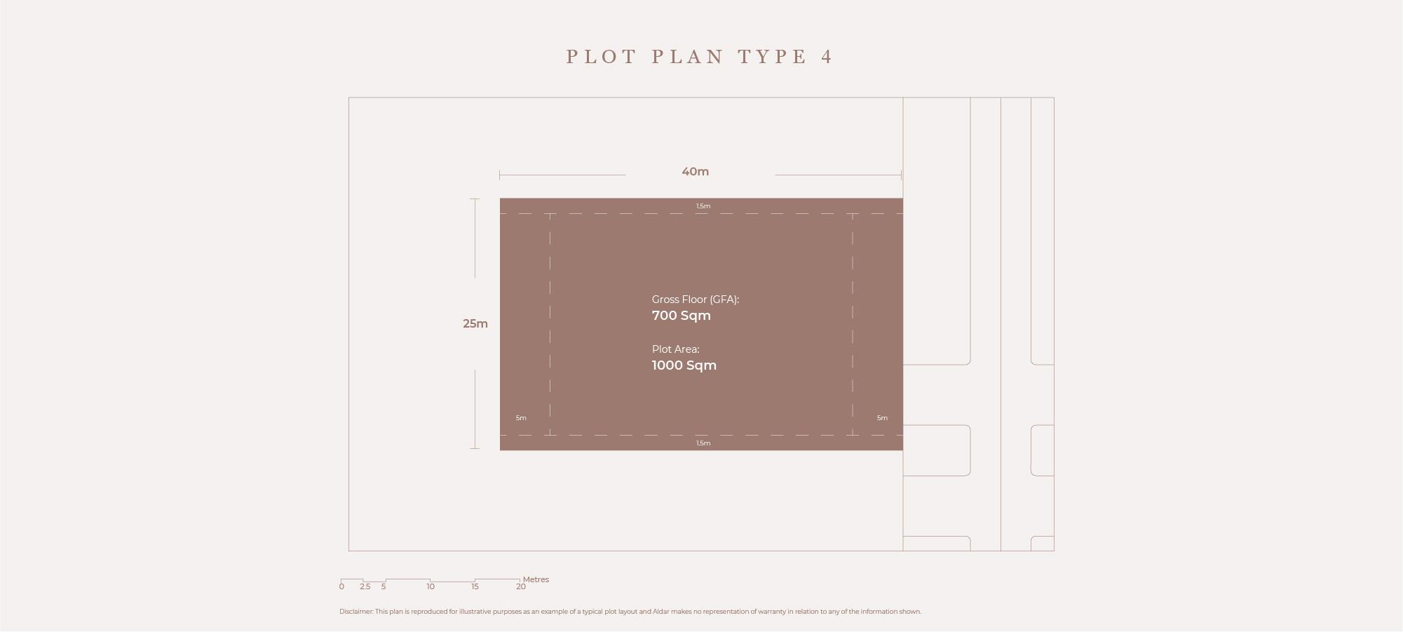 Plots Plan Type 4, Size 1000 Sqm