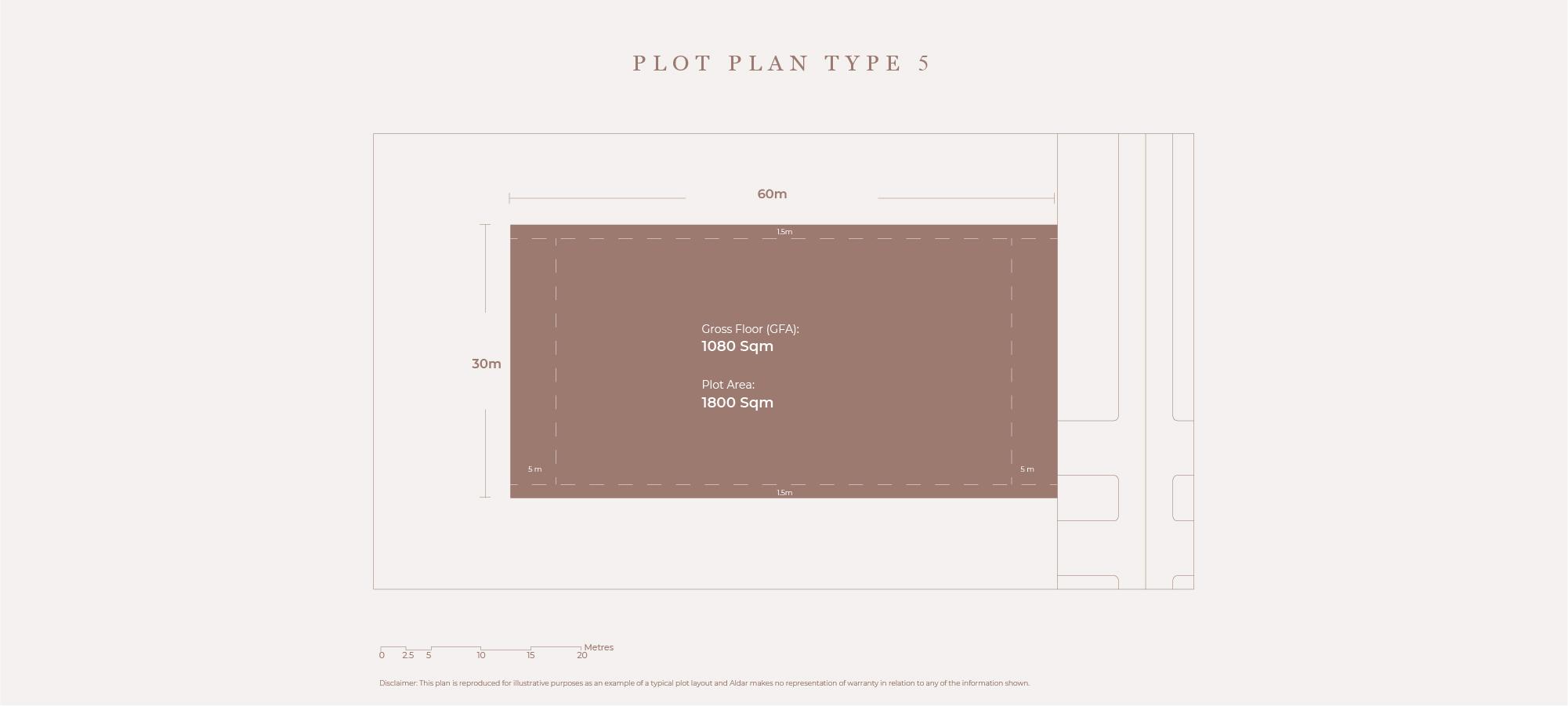 Plots Plan Type 5, Size 1800 Sqm