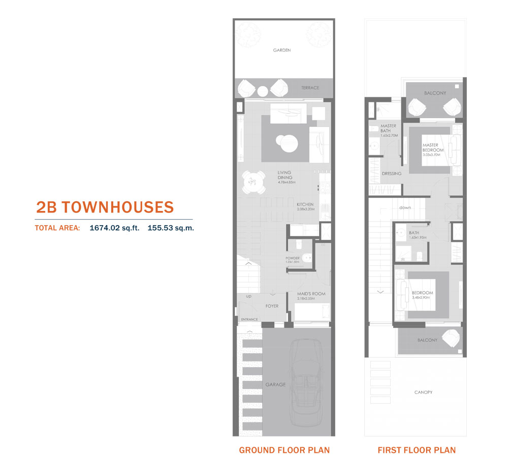 2B Townhouses,Size 1674.02 Sq.ft