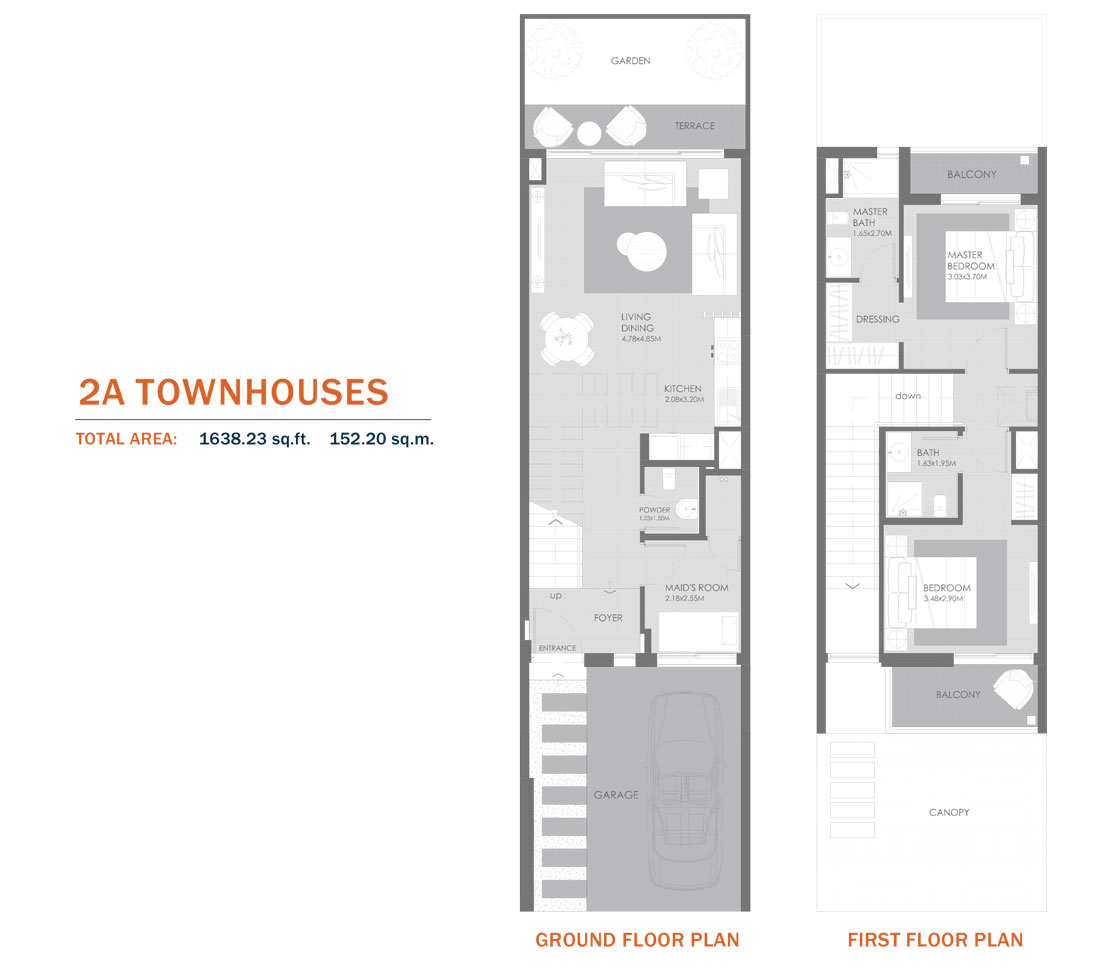 2A Townhouses,Size 1638.23 Sq.ft