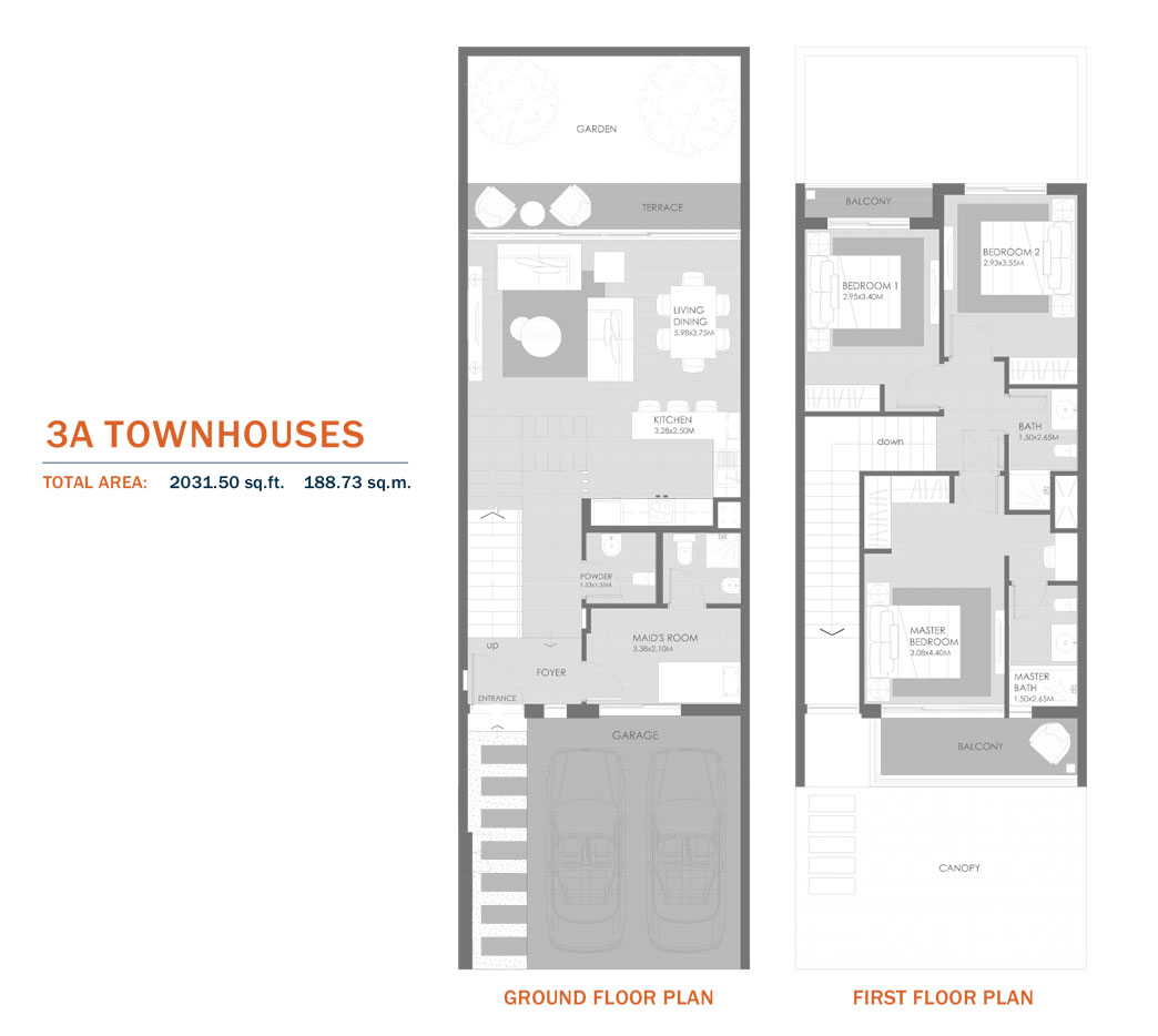 3A Townhouses,Size 2031.05 Sq.ft