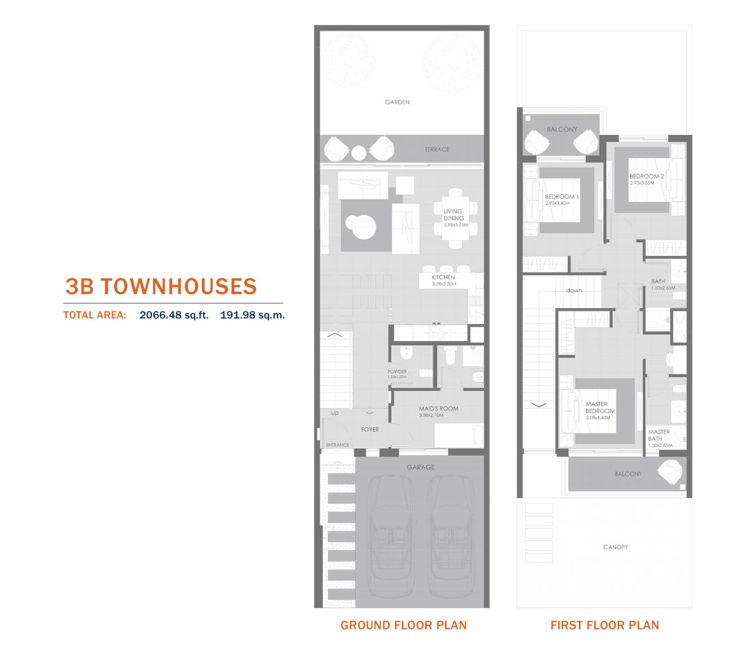 3B Townhouses,Size 2066.48 Sq.ft