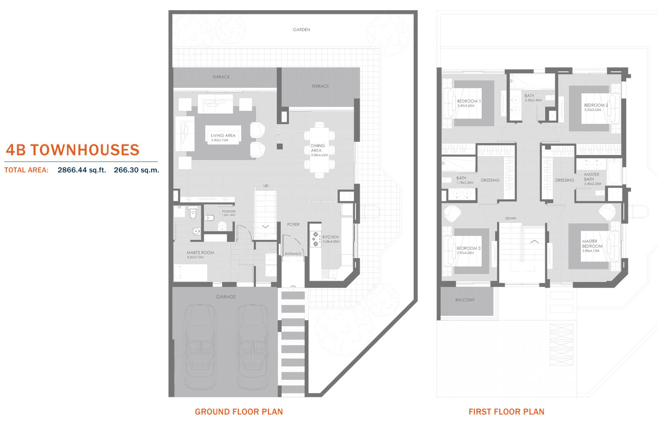 4B Townhouses, Size 2866.44 Sq.ft