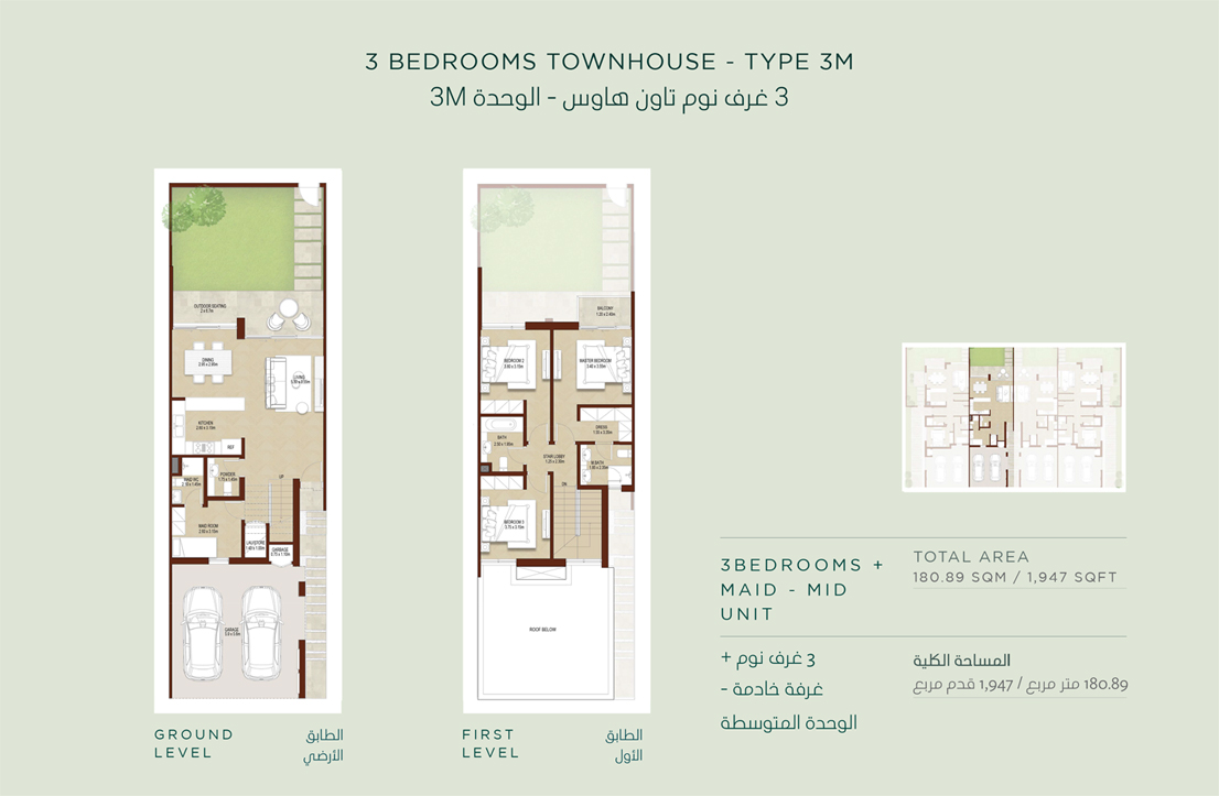 3 Bedroom Townhouses Type 3 M Size 1947 sq.ft