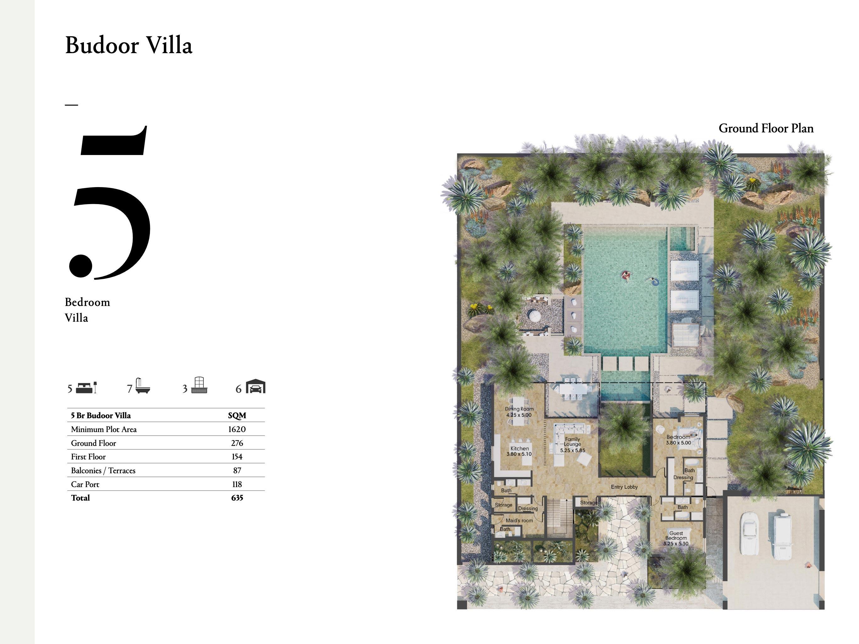 Budoor Villa - 5 Bedroom with a size area of 635 sqm