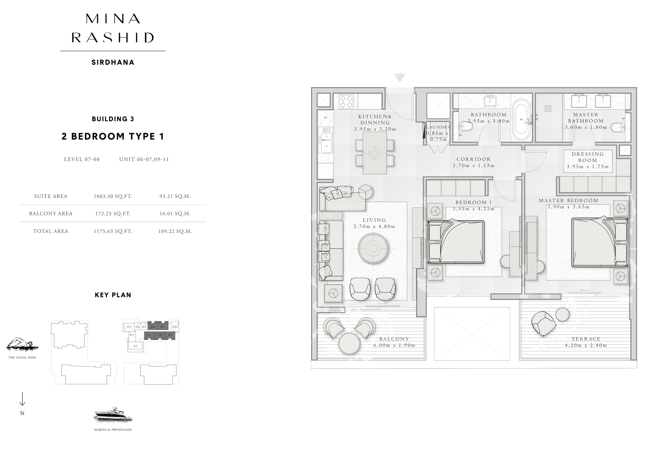 2-Bedroom-Type-1, Building-3, Level-7 to 8, Size-1175-Sq-Ft