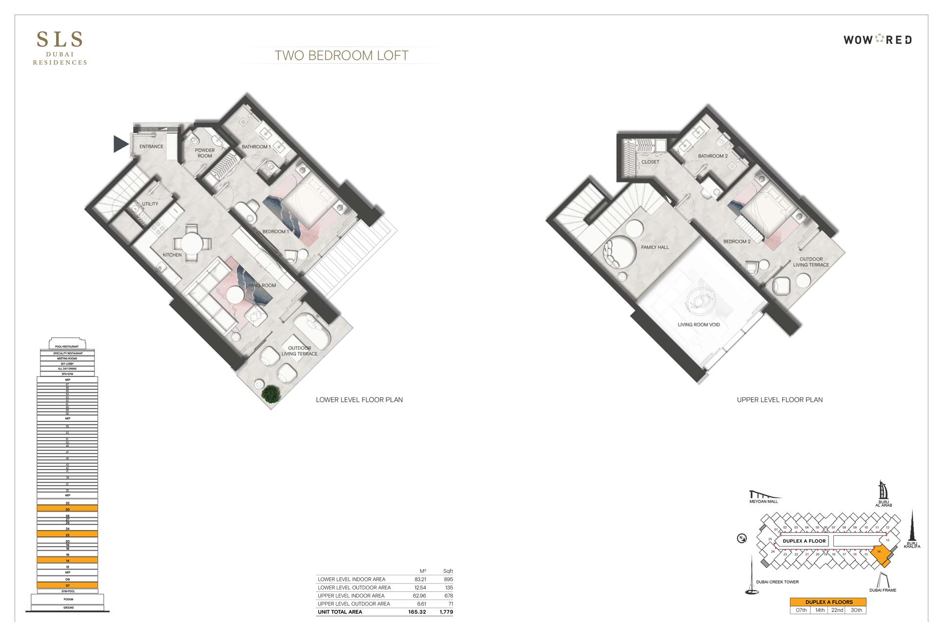 2 Bedroom Loft Size 1779 sq.ft