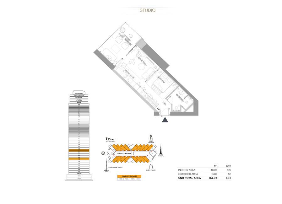 Studio,Size-698-sq.ft