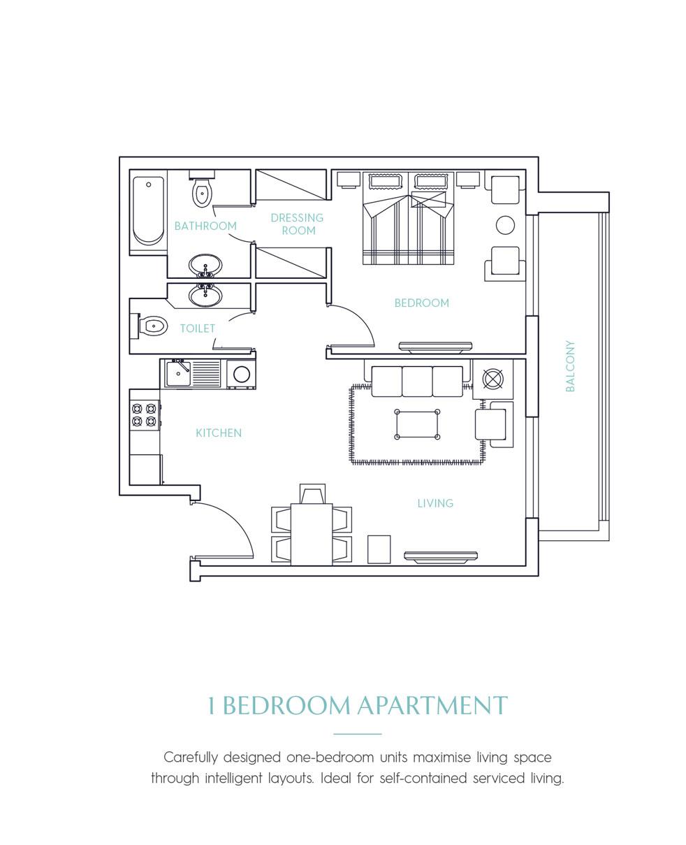 Candace Acacia Serviced Apartments -  1 Bedroom