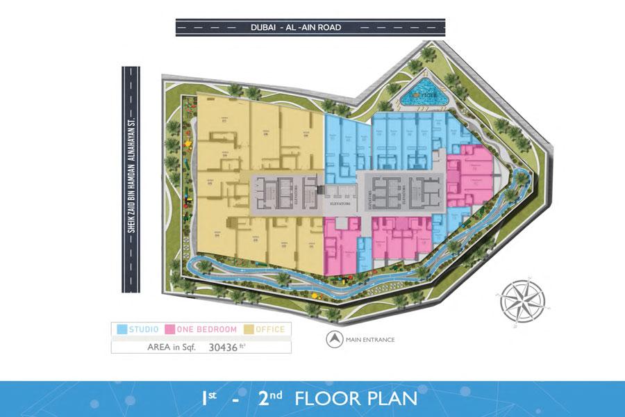 1st & 2nd - Floor, Area: 30,436 Sq. Ft.