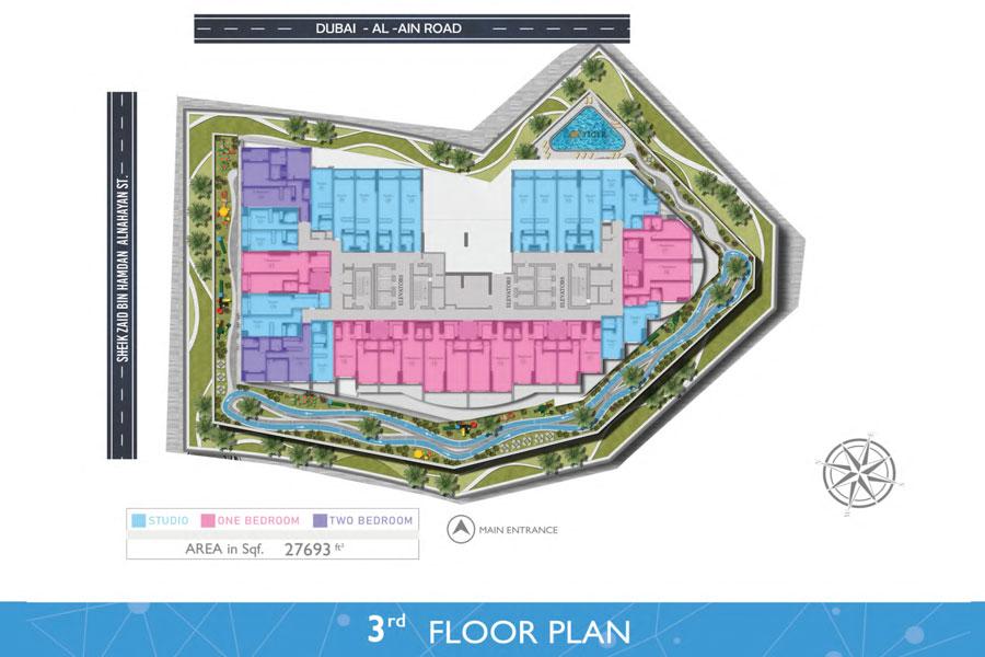 3rd - Floor, Area: 27,693 Sq. Ft.