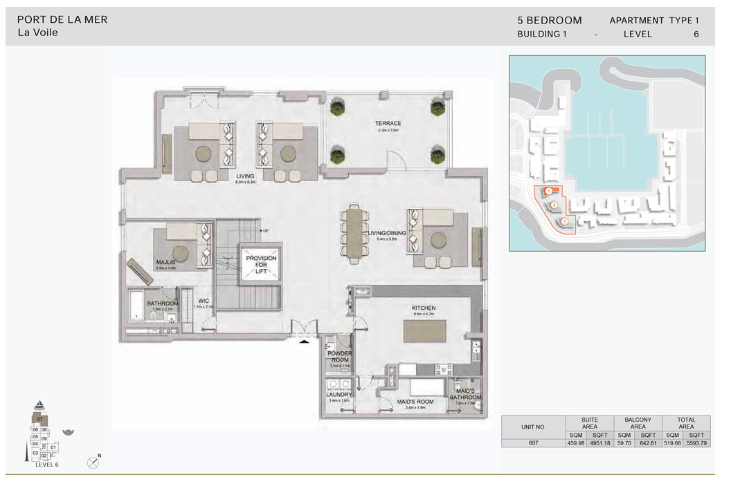 5-BR, Type-1-Level-6, Size-5593.79 sq.ft