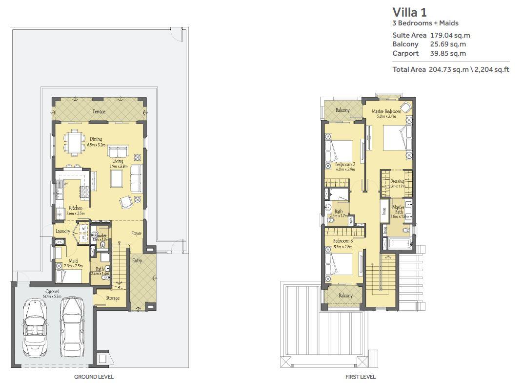 3 Bedroom unit + Maids Room