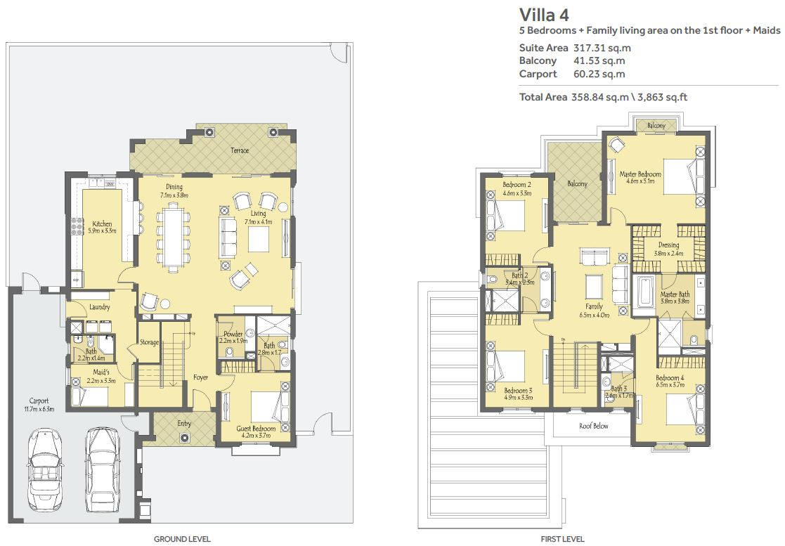 5 Bedroom unit + Maids Room