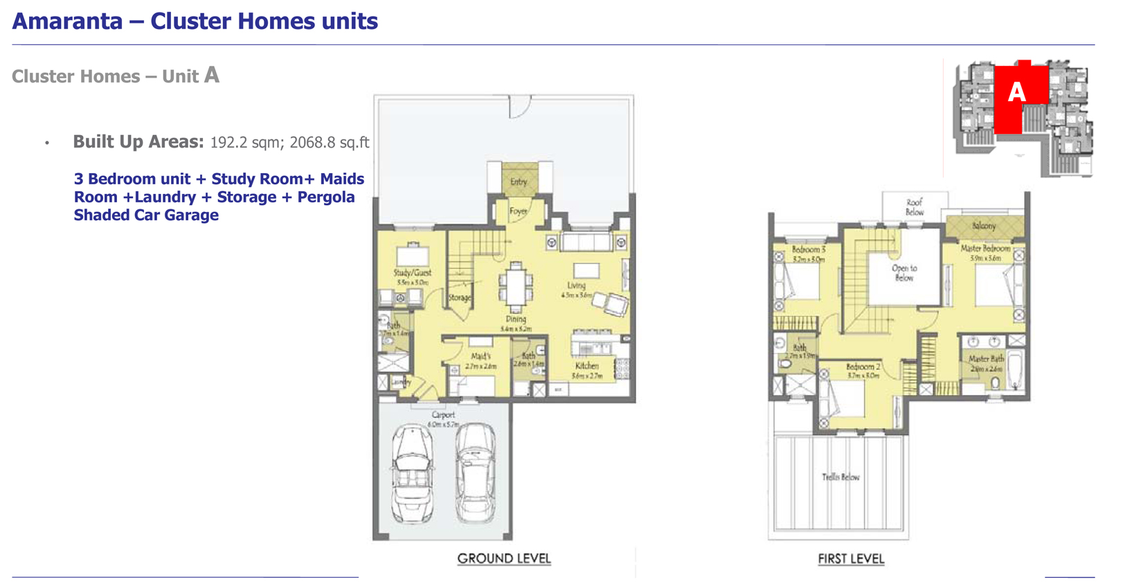 Phase 3 - Cluster Homes – Unit A