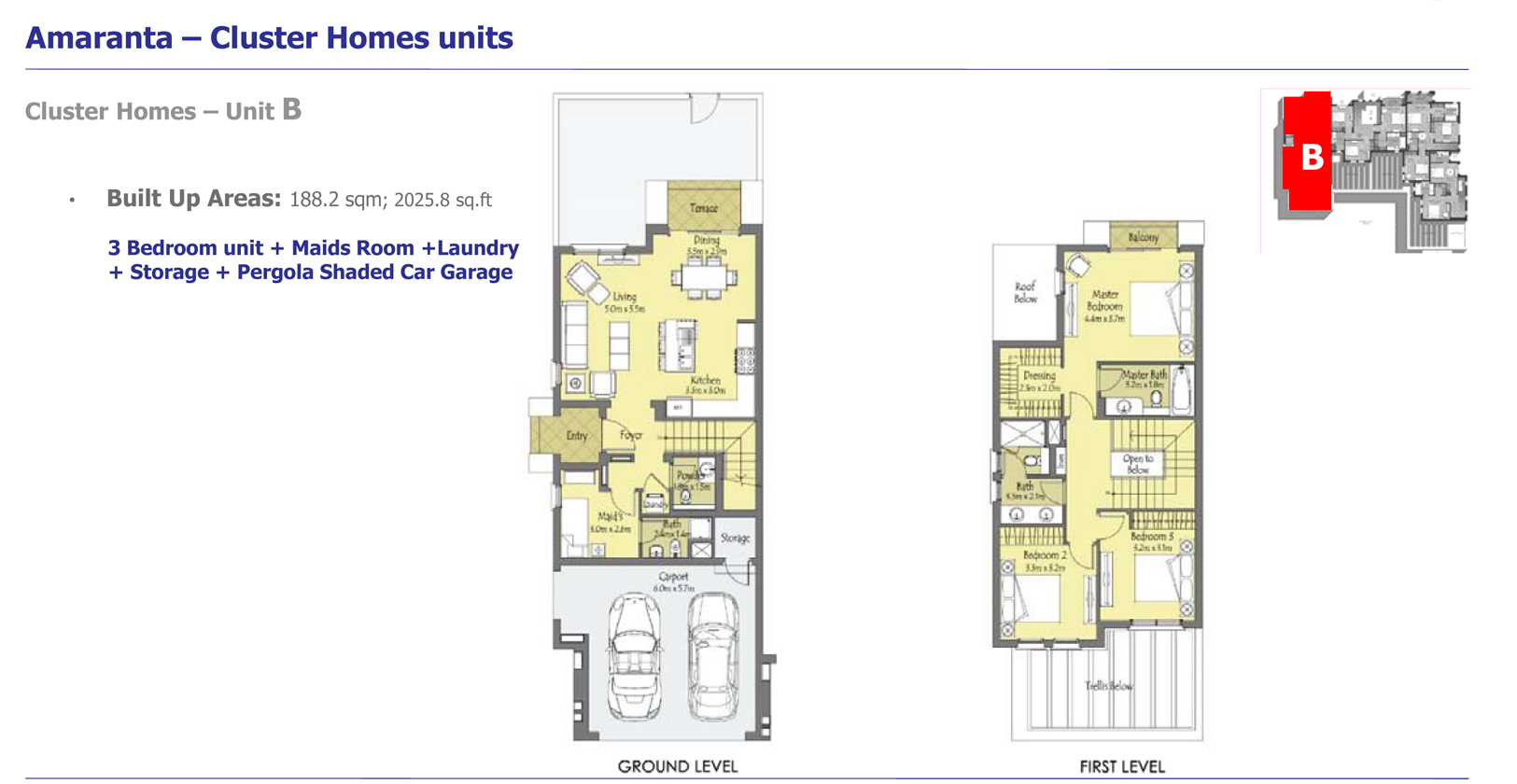 Phase 3 - Cluster Homes – Unit B