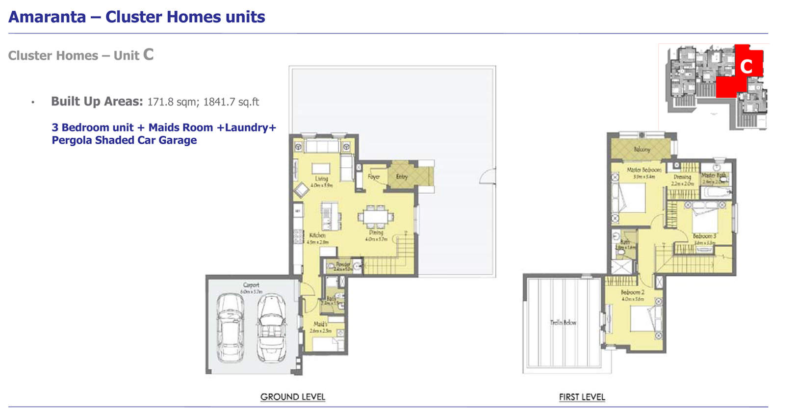 Phase 3 - Cluster Homes – Unit C