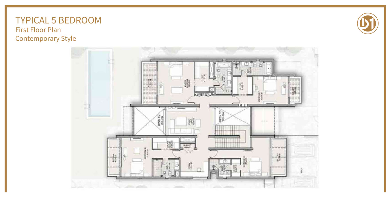 Typical 5 Bed, First Floor, Contemporary Style