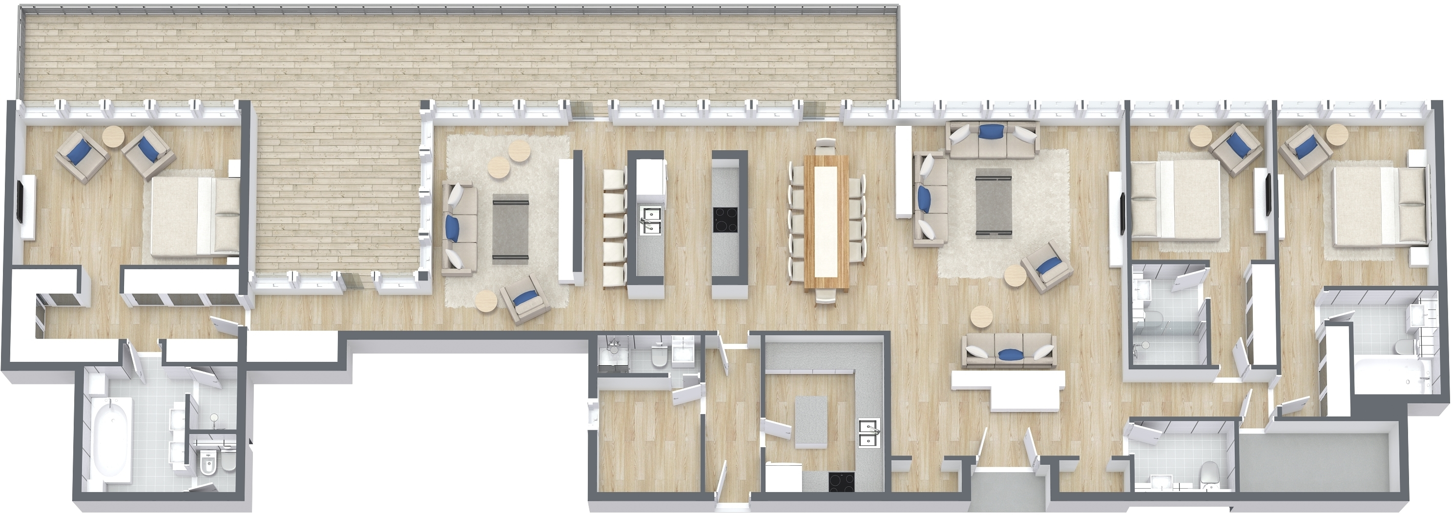 Penthouse, Size 4181 sq ft