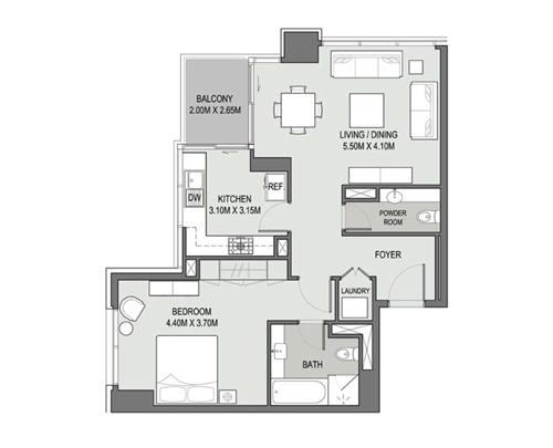 1 Bedroom - Type - 05
