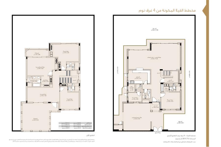 4 Bedroom Villas, Size 5037 Sq Ft
