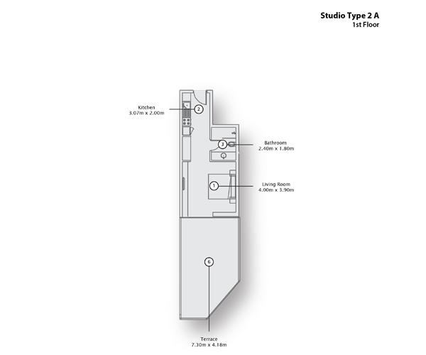 Studio Type 2 A, 1st Floor