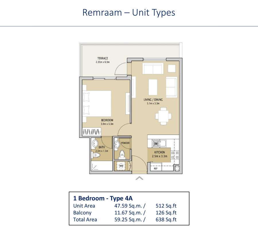 1 Bedroom Type 4A