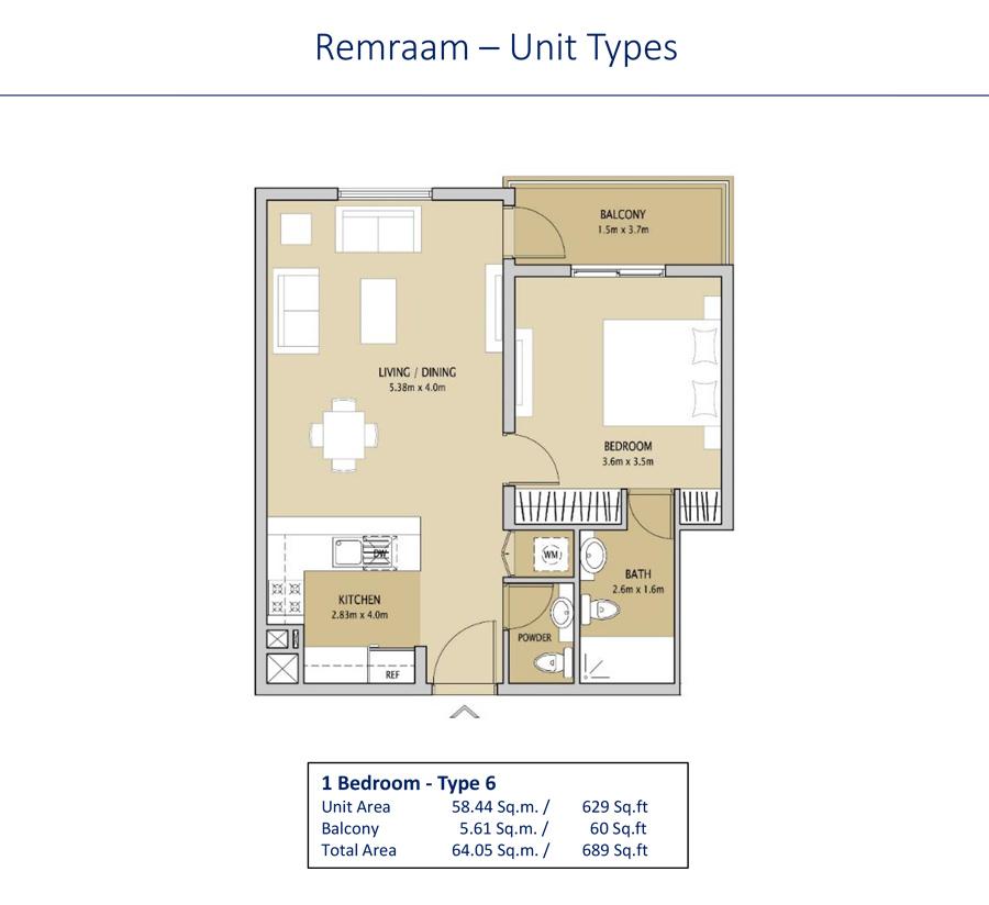 1 Bedroom Type 6
